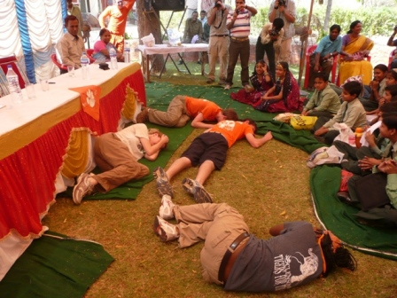 Skit by students of Clemson University depicting the death of two tiger cubs